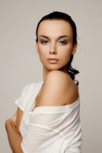 Woman with youthful appearance after skin therapy